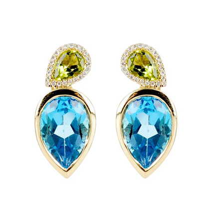 Earring Colored Stone 0024