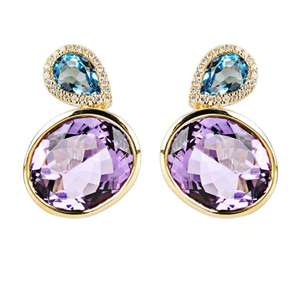 Earring Colored Stone 0027