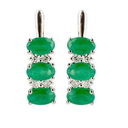 Earring Colored Stone 0036