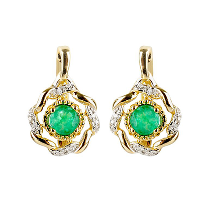 Earring Colored Stone 0039