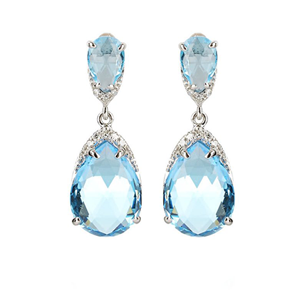 Earring Colored Stone 0041