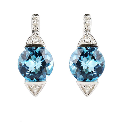 Earring Colored Stone 0042
