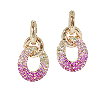 Earring Colored Stone 0044