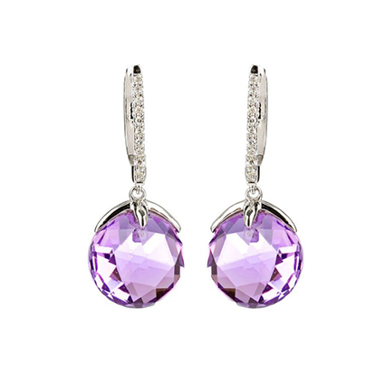 Earring Colored Stone 0048