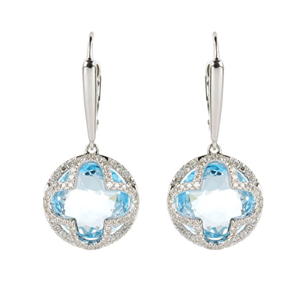 Earring Colored Stone 0049