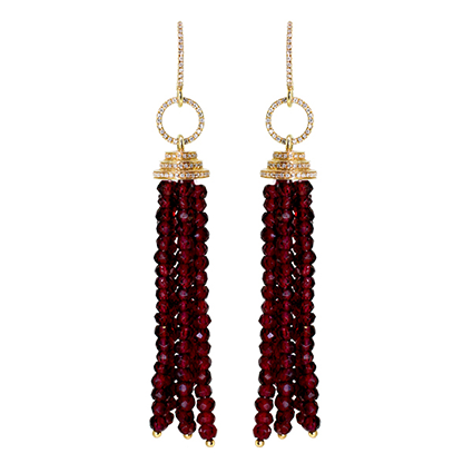 Earring Colored Stone 0052